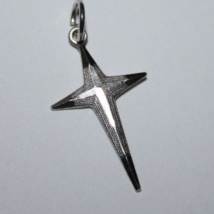 Vintage sterling silver cross charm or pendant